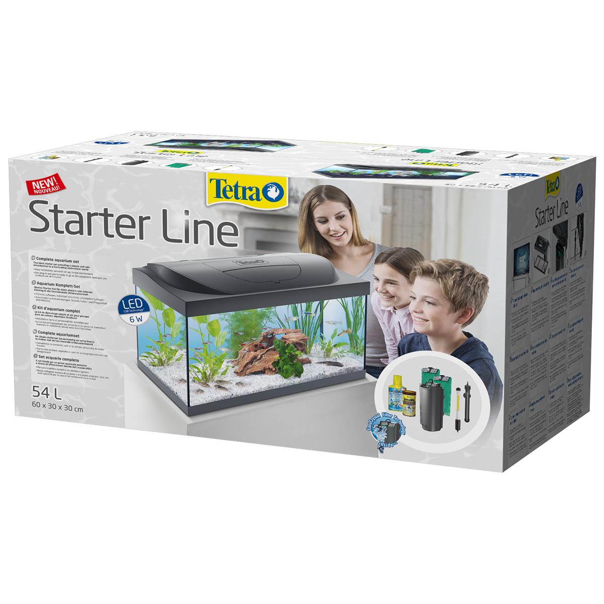 tetra starter line aquarium led 54 liter ebay. Black Bedroom Furniture Sets. Home Design Ideas