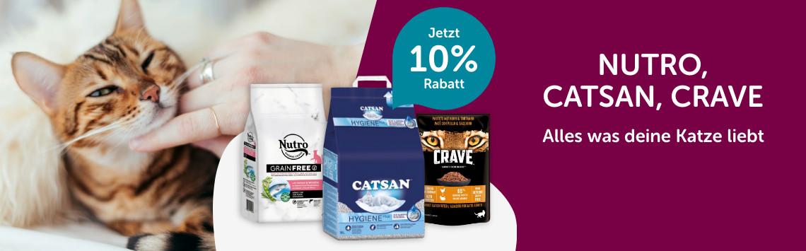 Catsan, Crave, Nutro mit 10% Rabatt