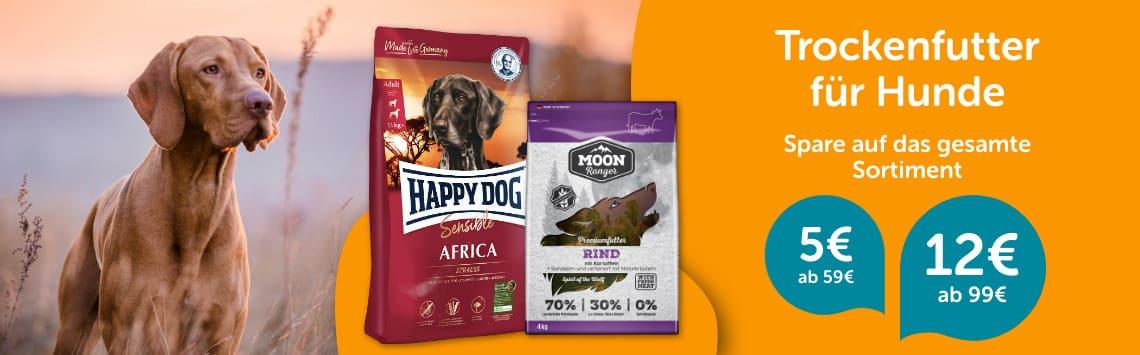 Hundetrockenfutter bis zu 12€ günstiger