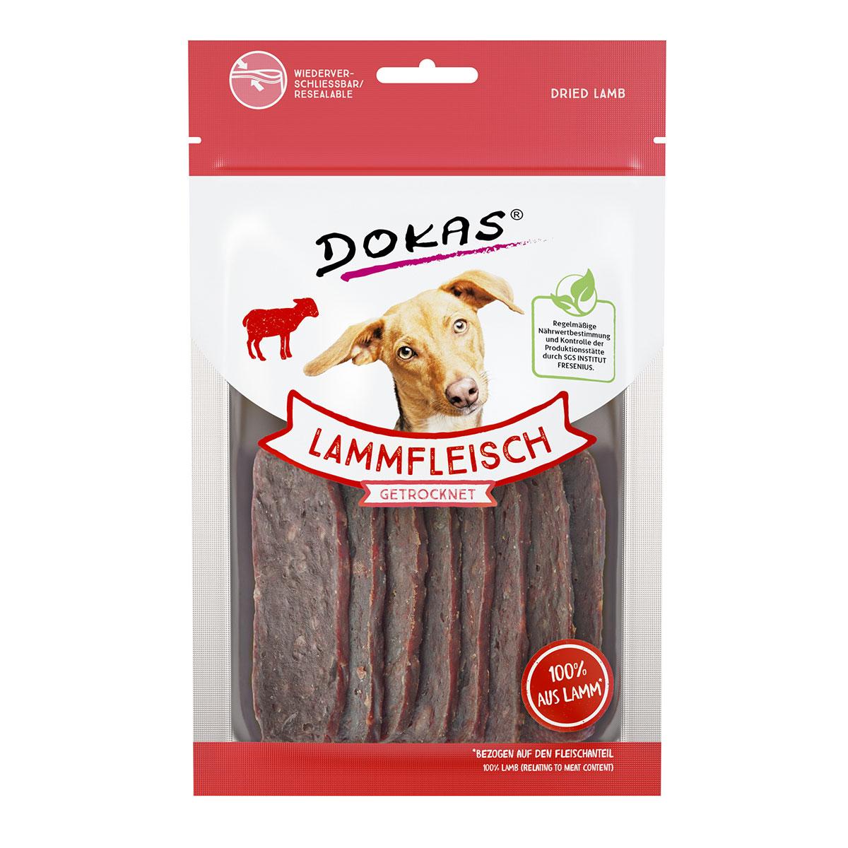 dokas hundesnack lammfleisch getrocknet kaufen bei zooroyal. Black Bedroom Furniture Sets. Home Design Ideas