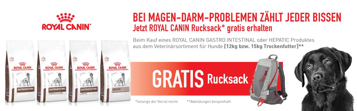 Royal Canin + Rucksack gratis