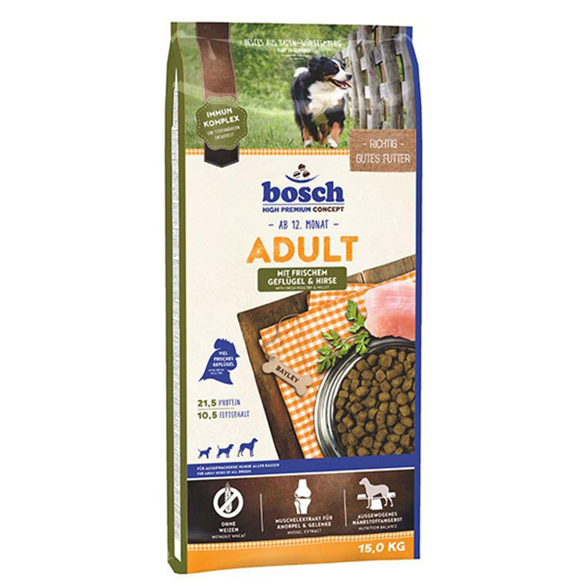 Bosch Hundefutter Adult Geflügel & Hirse 15kg