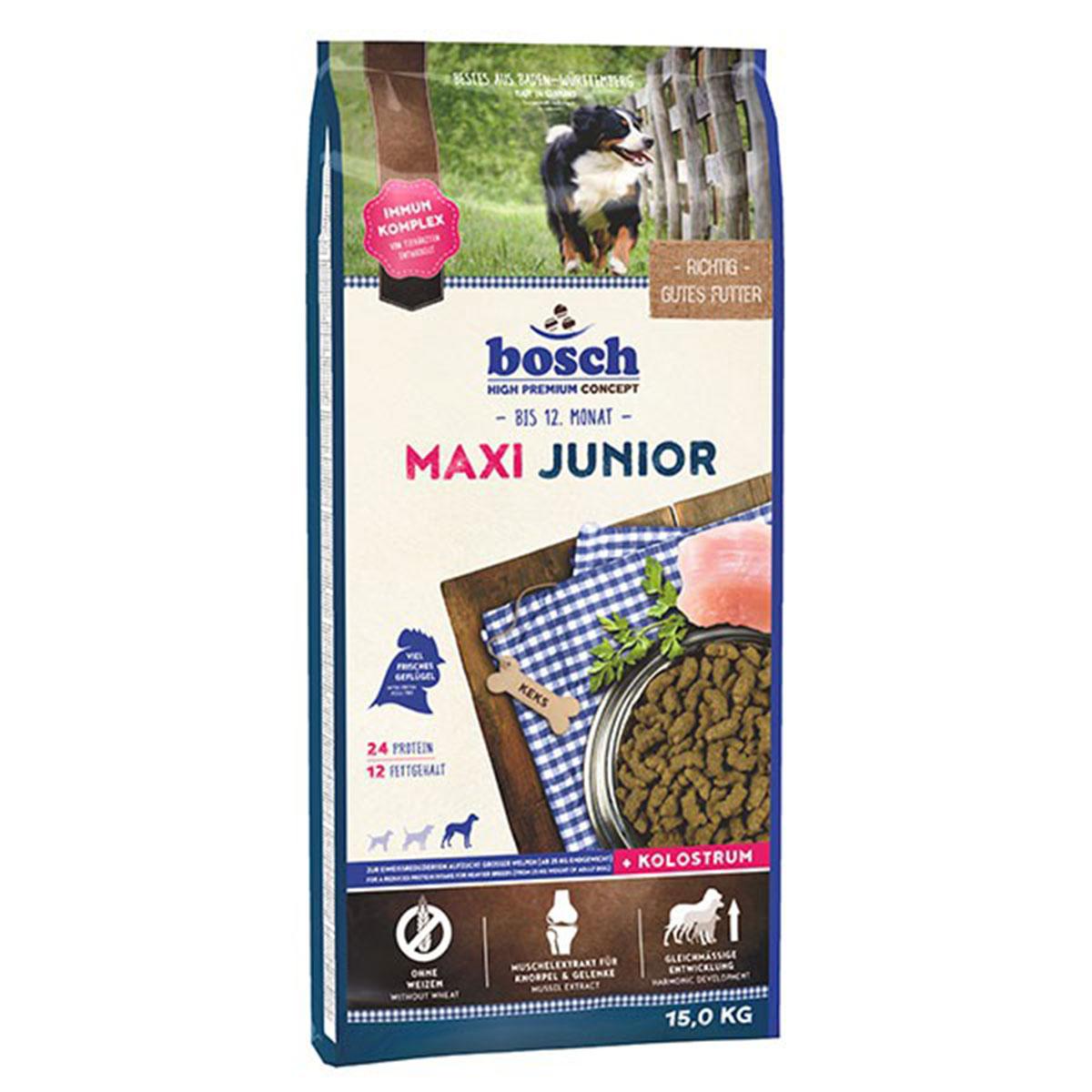 Bosch Hundefutter Maxi Junior 15kg