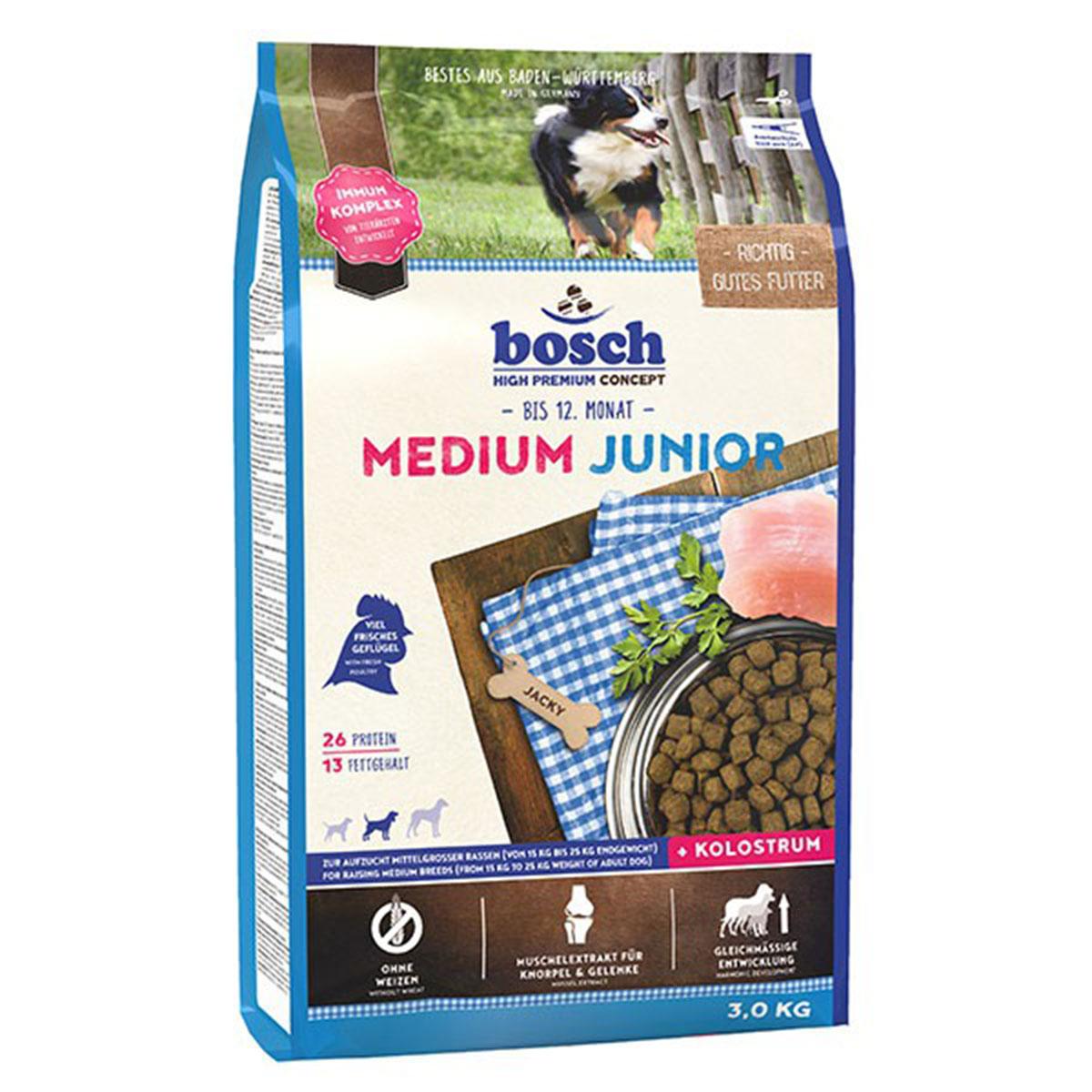 Bosch Hundefutter Medium Junior 3kg