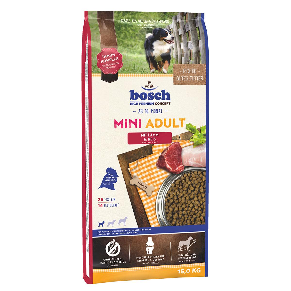 Bosch Hundefutter Mini Adult Lamm & Reis 15kg