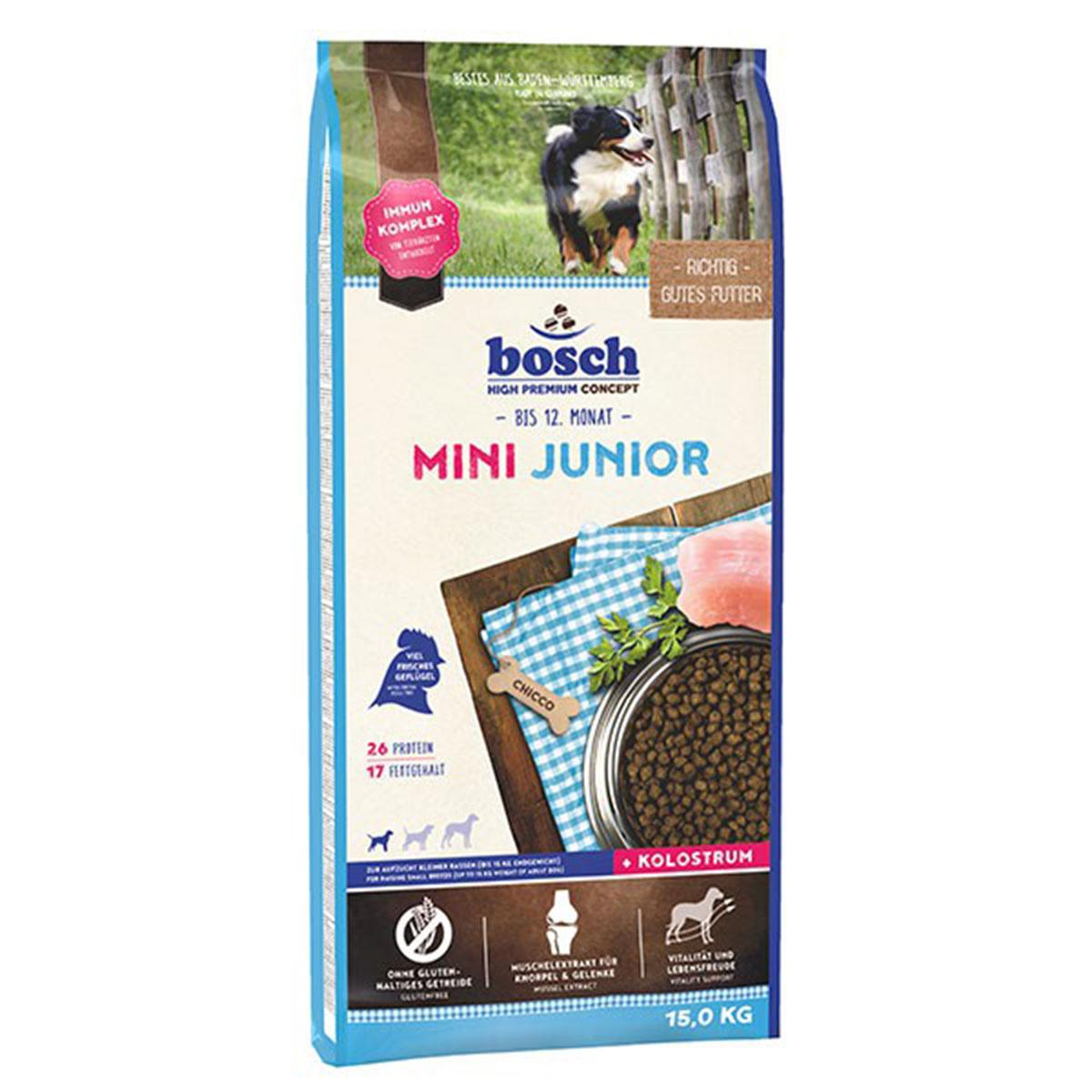 Bosch Hundefutter Mini Junior 15kg