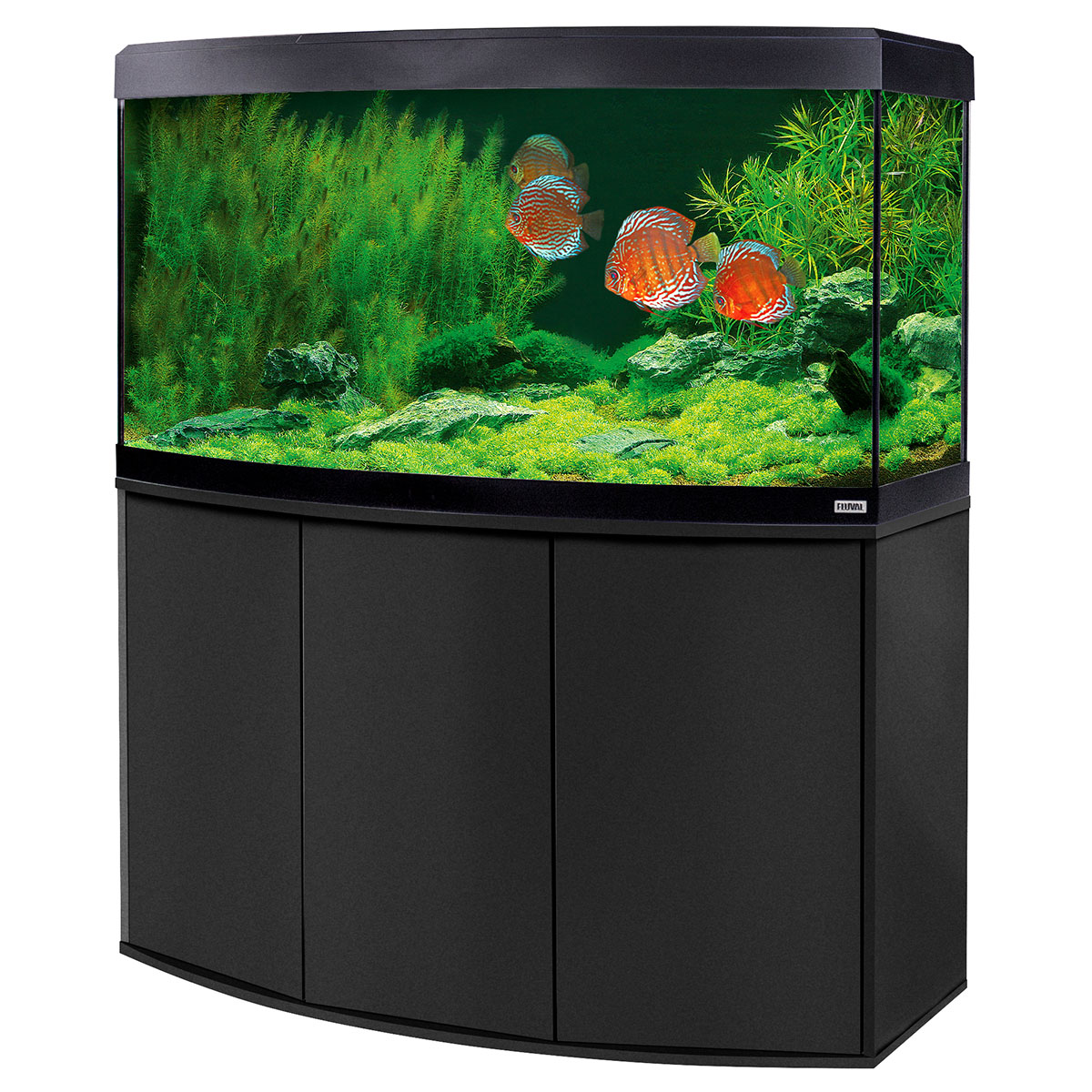 fluval panoramaaquarium mit led beleuchtung vicenza 260. Black Bedroom Furniture Sets. Home Design Ideas