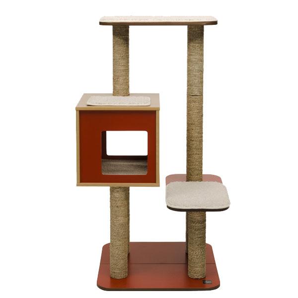 vesper kratzbaum v high base design mit nat rlichem holz 121 5 cm ebay. Black Bedroom Furniture Sets. Home Design Ideas
