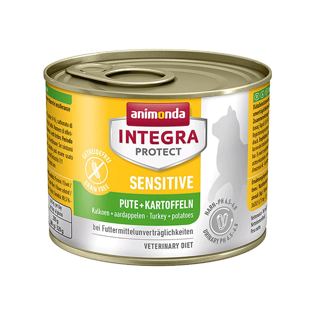 animonda integra protect katzenfutter sensitive pute und kartoffel. Black Bedroom Furniture Sets. Home Design Ideas