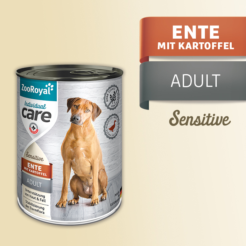 ZooRoyal Care Adult Sensitive Ente mit Kartoffel
