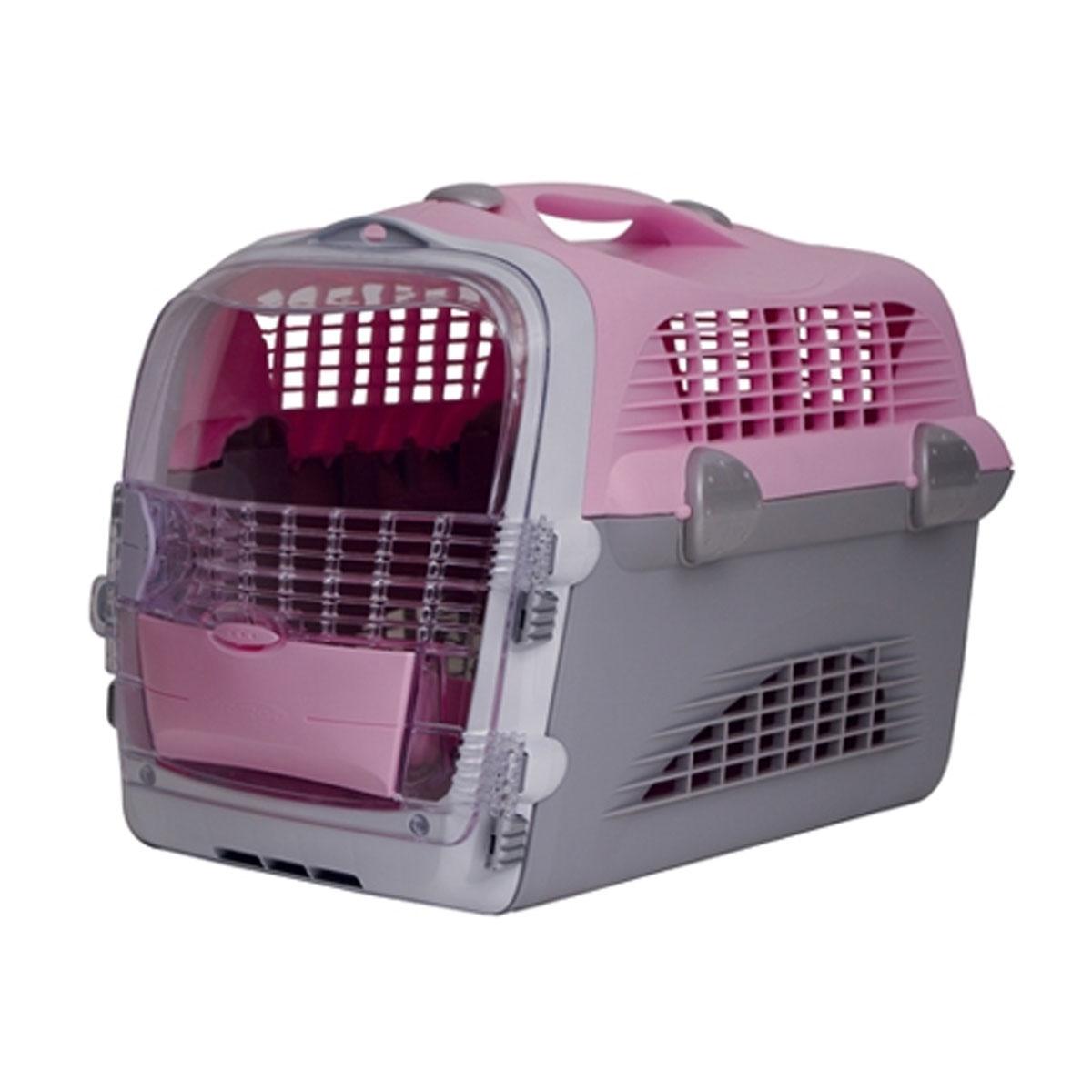 catit transportbox pet cargo cabrio rosa grau f r katzen. Black Bedroom Furniture Sets. Home Design Ideas