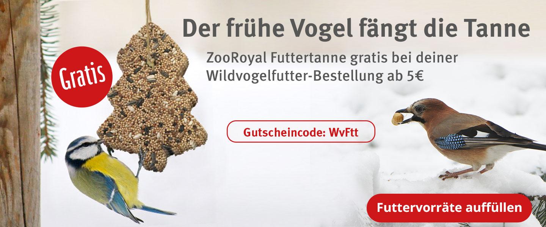Gratis Futtertanne zu Wildvogelfutter ab 5€