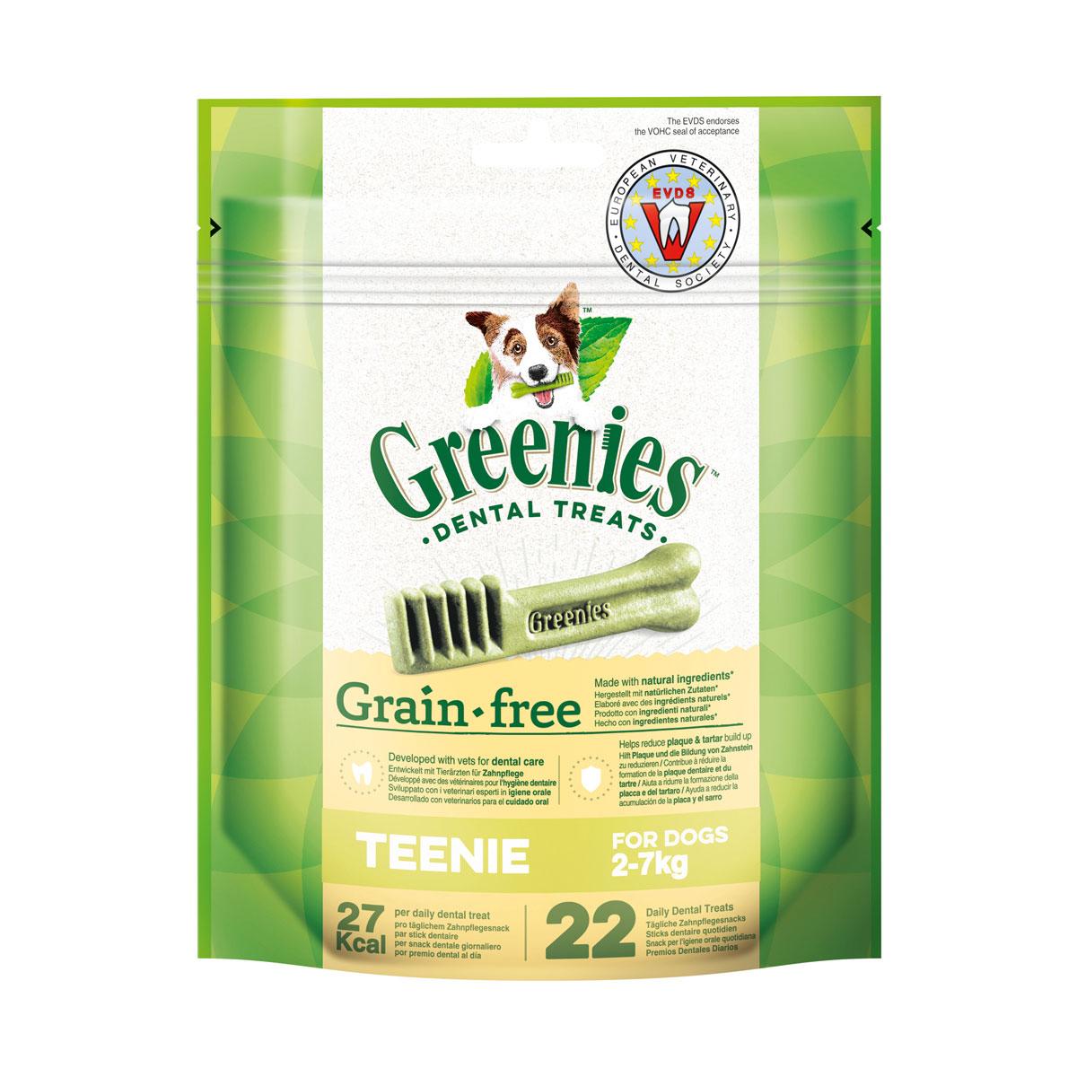 Greenies Grain Free Teenie Zahnpflegesnacks für Hunde von 2-7kg - 170g