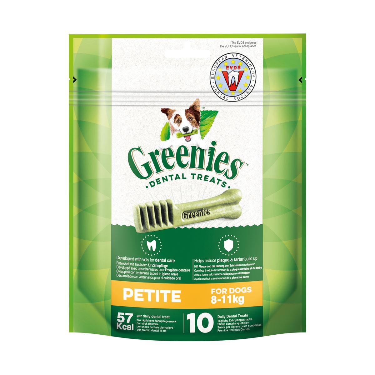 Greenies Petite Zahnpflegesnacks für Hunde von 8-11kg 170g
