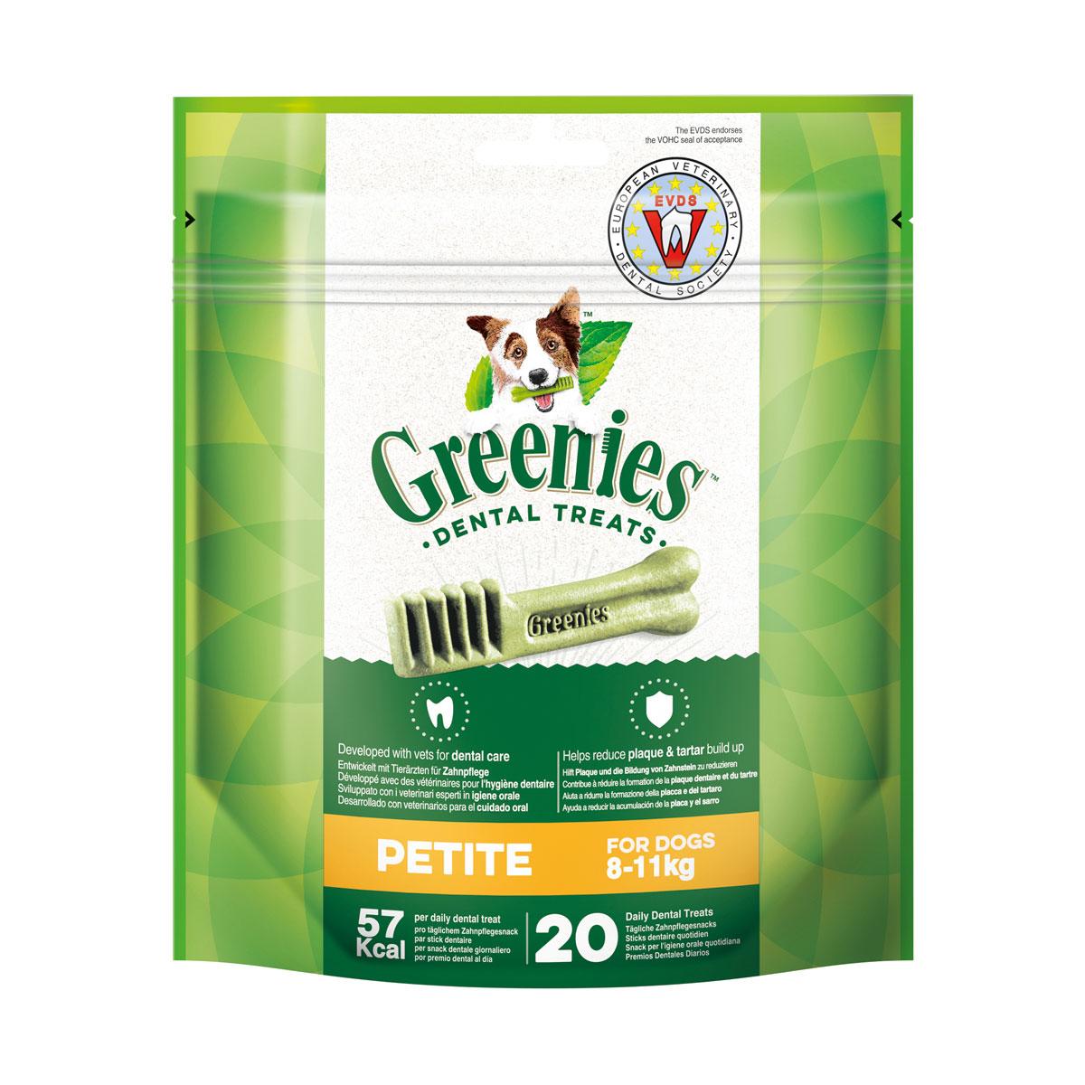 Greenies Petite Zahnpflegesnacks für Hunde von 8-11kg 340g