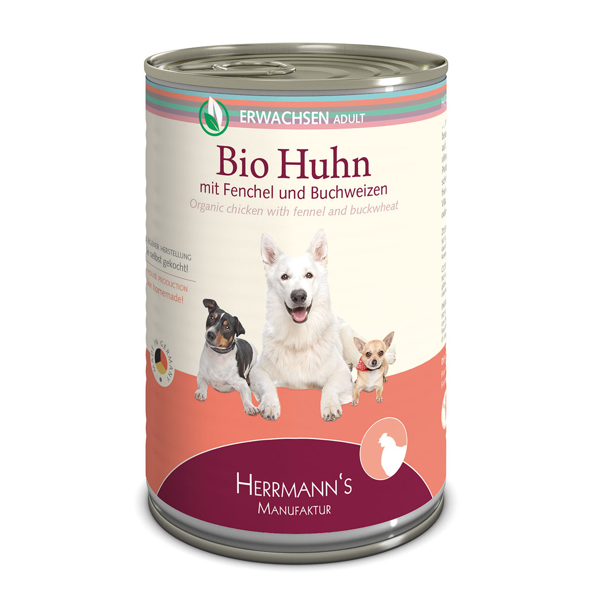 herrmanns bio hundefutter huhn mit fenchel und buchweizen. Black Bedroom Furniture Sets. Home Design Ideas