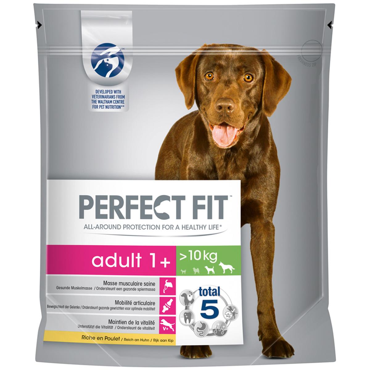 Perfect Fit Adult 1+ für mittlere und große Hunde reich an Huhn 1,4kg