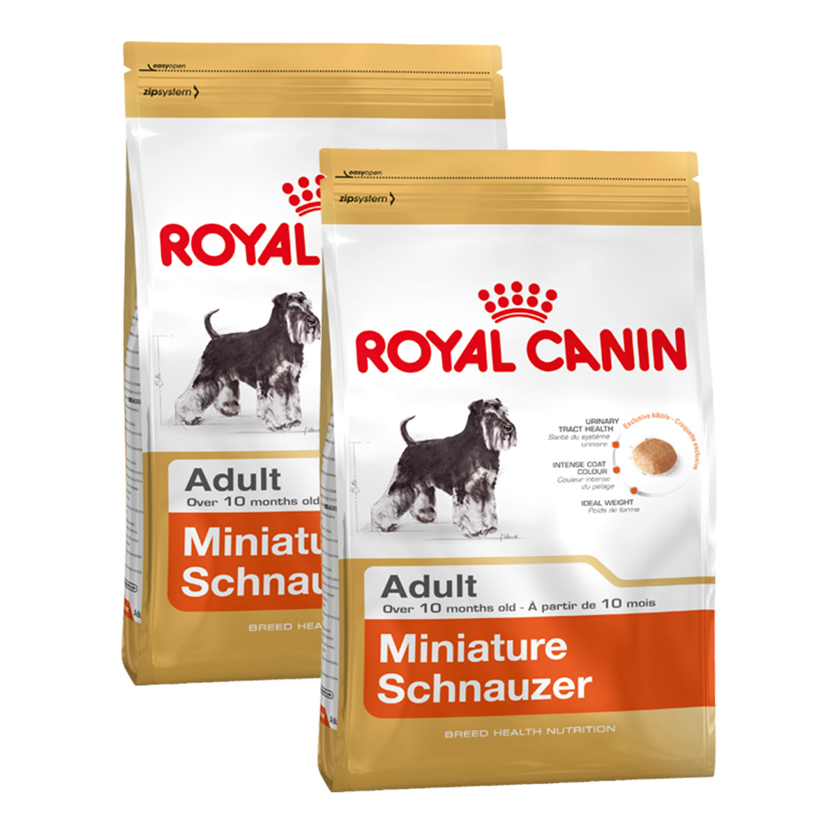 royal canin miniature schnauzer 25 adult kaufen bei zooroyal. Black Bedroom Furniture Sets. Home Design Ideas