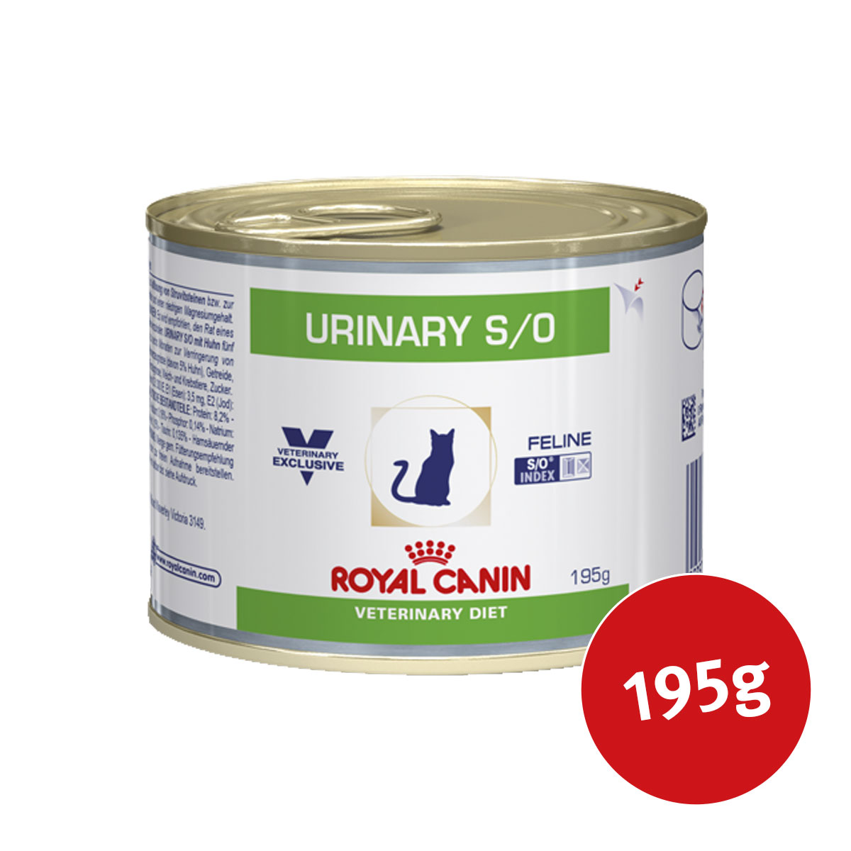 royal canin vet diet nassfutter urinary s o 195 g bei zooroyal. Black Bedroom Furniture Sets. Home Design Ideas