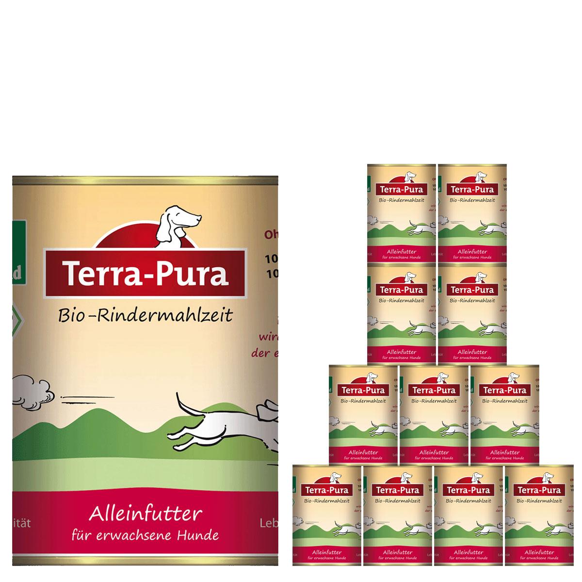Terra Pura Hundefutter Bio-Rindermahlzeit 12x400g