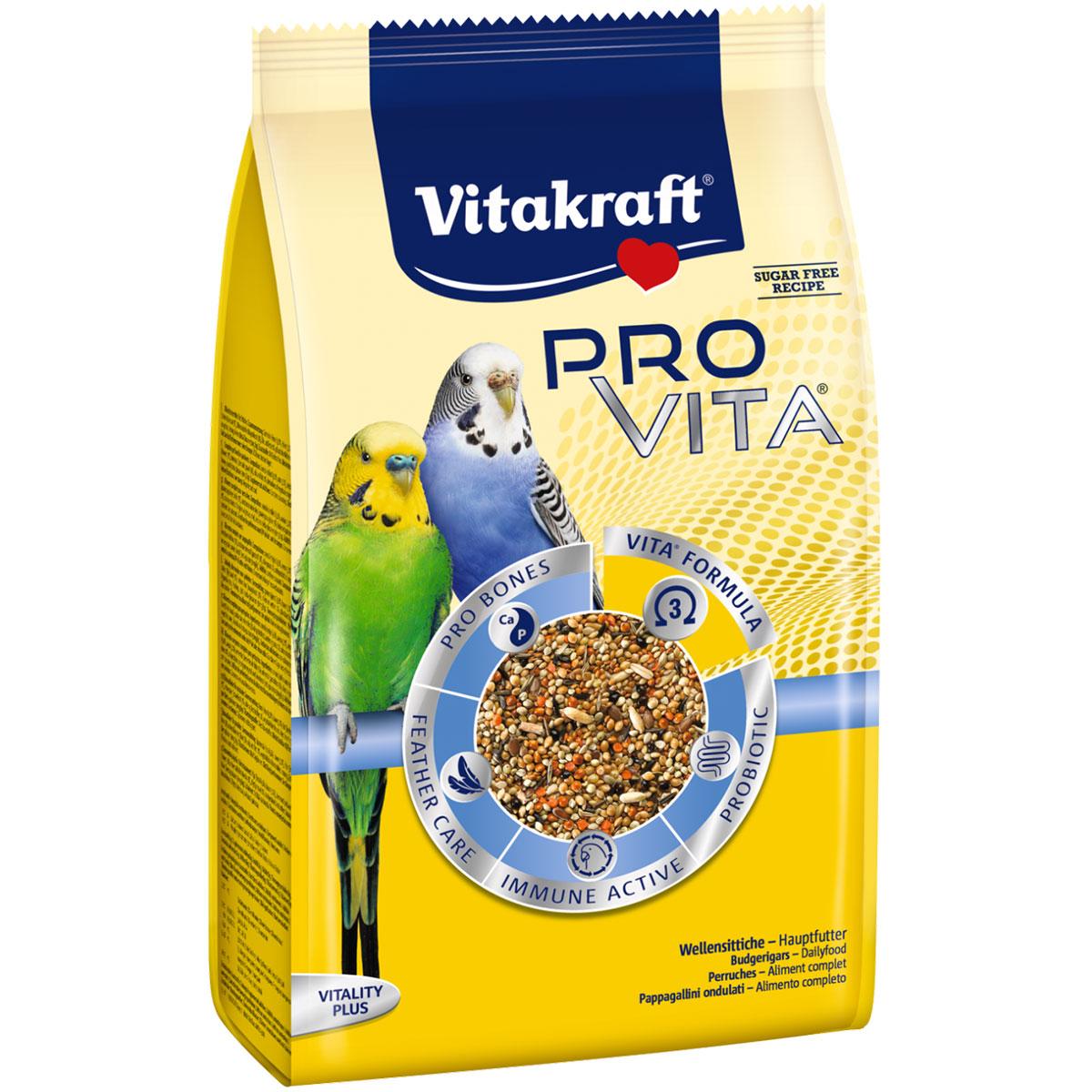 Vitakraft vogelfutter pro vita wellensittich g bei zooroyal
