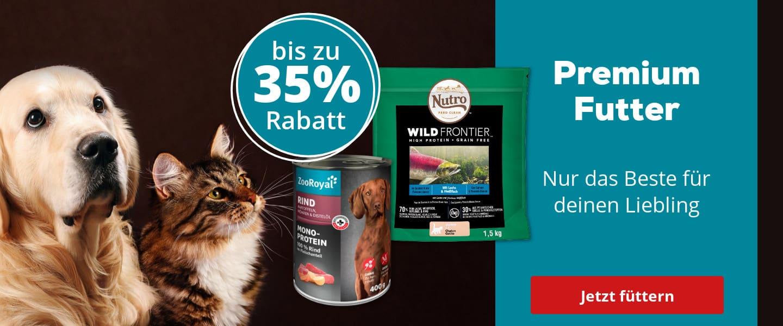 Premium Futter für Hund & Katz