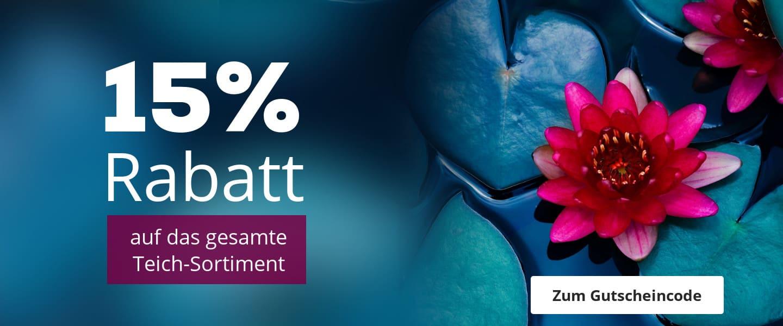 15% Rabatt auf das Teich-Sortiment