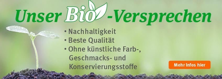 Bio Shop - Unser Bio Versprechen