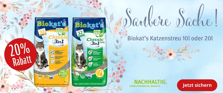 20% Rabatt auf Biokat's