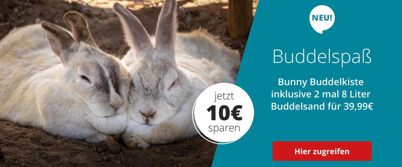 Einführungsangebot Buddelkiste mit Sand kaufen und Buddelsand gratis