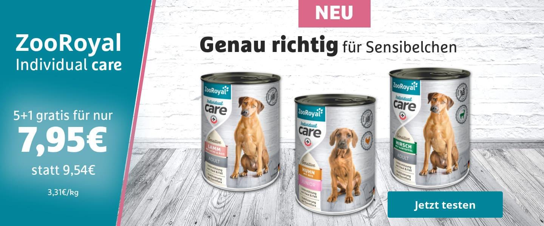Neu ZooRoyal Individual care - Hunde-Nassfutter