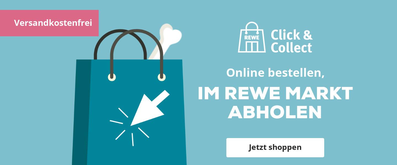 Jetzt versandkostenfrei in den REWE Markt liefern lassen!