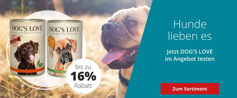 Dog's Love bis zu 16% rabattiert