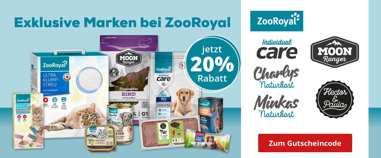 20% Rabatt auf ZooRoyal exklusive Marken