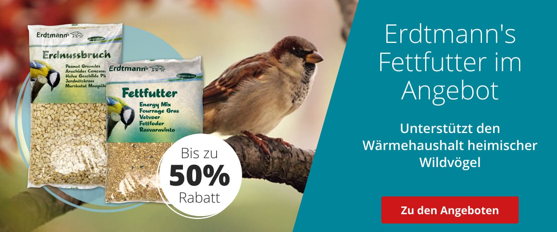 Bis zu 50% auf Erdtmanns Wildvogelfutter