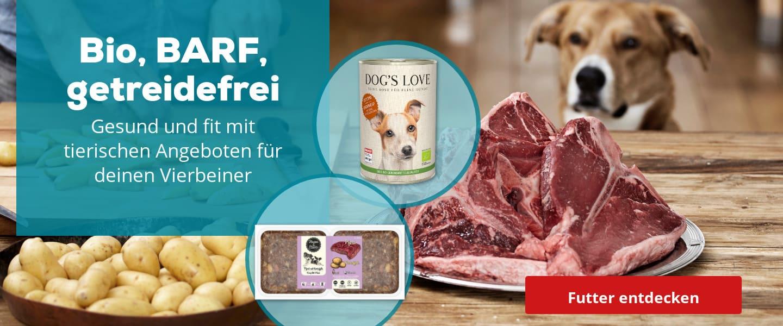 Bio, Barf, Getreidefrei für deinen Hund