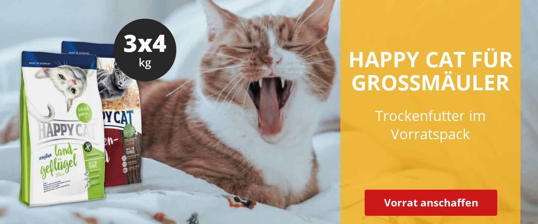 HAPPY CAT Katzenfutter im Vorratspack