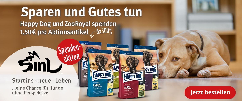 Happy Dog & ZooRoyal Spendenaktion