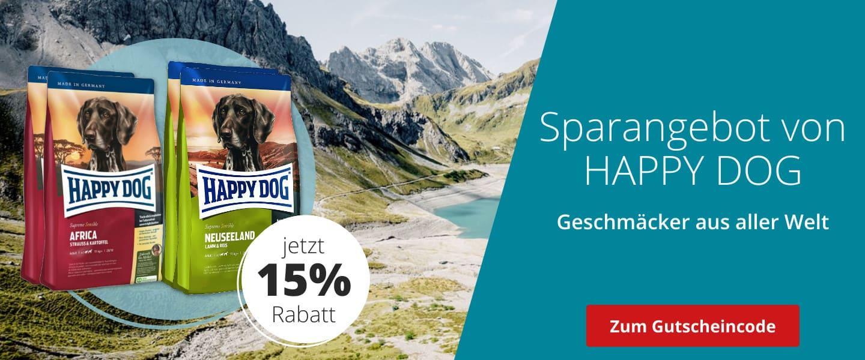 Happy Dog mit 15% Rabatt