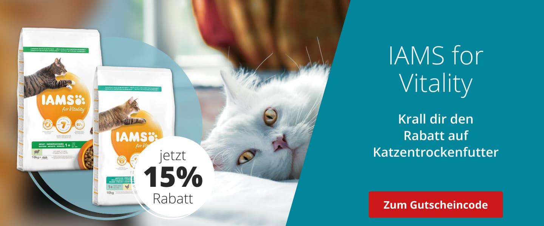 IAMS mit 15% Rabatt