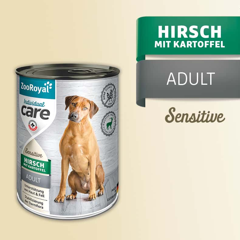 ZooRoyal Care Adult Sensitive Hirsch mit Kartoffel