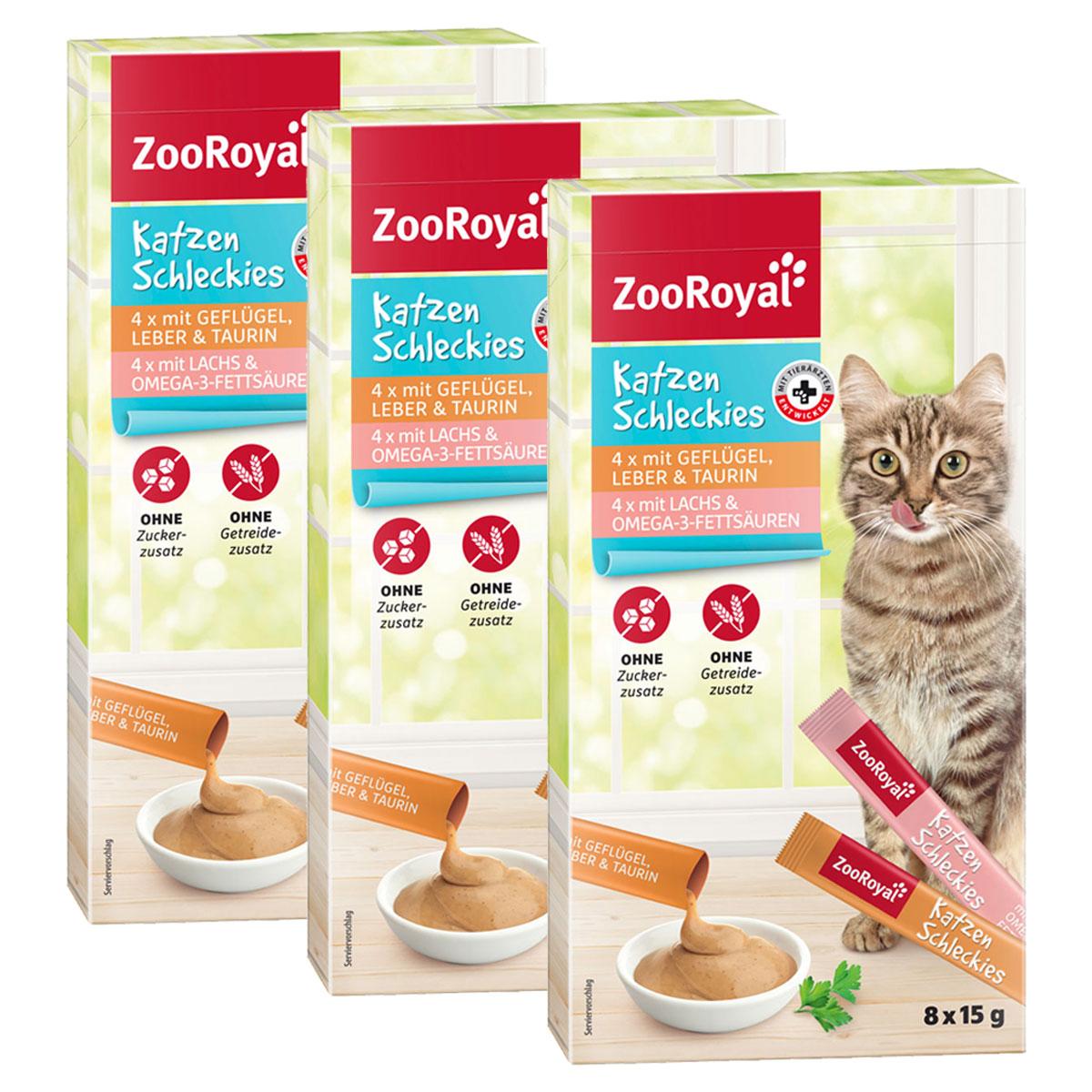 zooroyal katzen schleckies 3x8x15g g nstig kaufen bei zooroyal. Black Bedroom Furniture Sets. Home Design Ideas