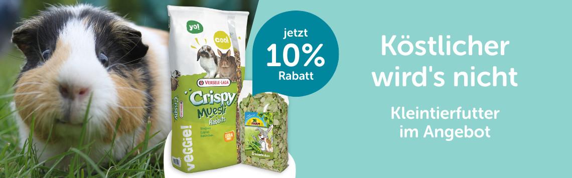 10% auf Kleintierfutter