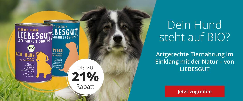 Liebesgut Hundefutter im Angebot