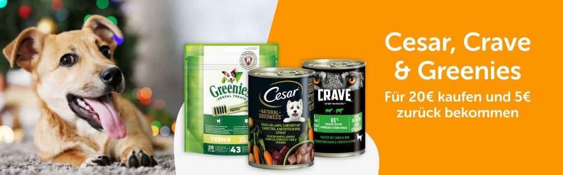 Cesar, Crave & Greenies im Angebot