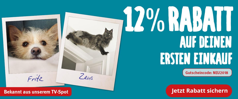 Neukundenrabatt 12% ab 49€