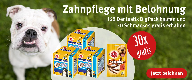 30 x 3 Schmackos gratis zu Pedigree Dentastix