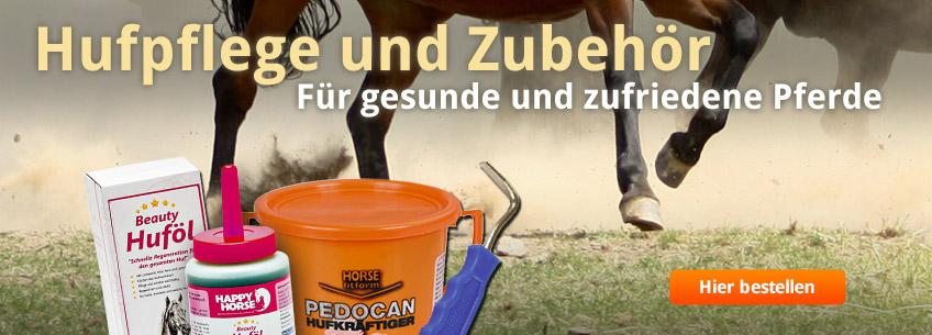 Für gesunde und zufriedene Pferde: Hufpflege und Zubehör.