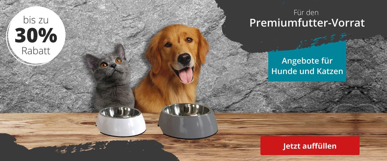Premiumfutter für Hund und Katze