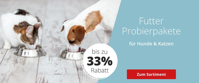 Futter-Probierpakete für Hunde und Katzen